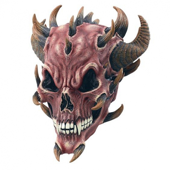 Halloween Straatversiering.Halloween Duivel Masker Feest Maskers Oranje Fanshop Nl